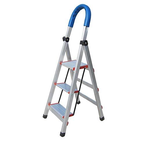 LRZLZY 4-Stufenleiter, zusammenklappbaren tragbaren Küchenleiter, Heavy Duty Mehrzweckhaushalts Schritt Hocker, Küchenleiter mit Nicht Beleg-Matte (Color : 3-Step)