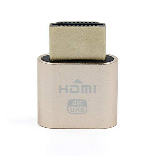 WBTUO VGA Virtual adaptador de pantalla HDMI EDID DDC maniqu/í enchufe sin cabeza fantasma emulador de pantalla 1920/x 1080/nueva generaci/ón @ 60Hz color gris
