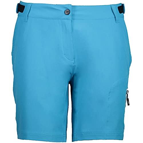 CMP Women's Free Bermuda Mesh Cycling Shorts, Blue, 34