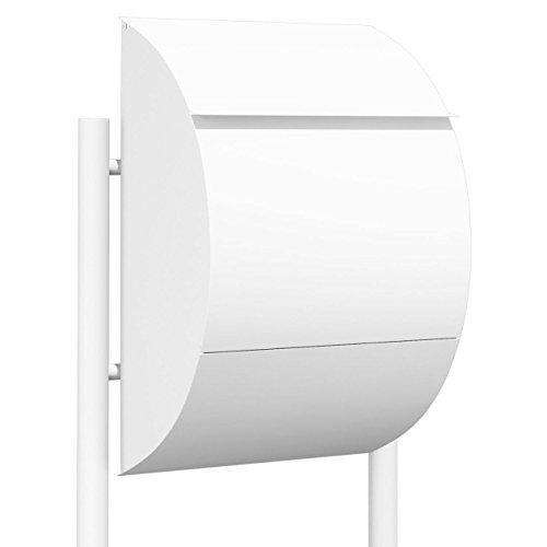 Standbriefkasten, Design Briefkasten Jumbo Weiß - Bravios
