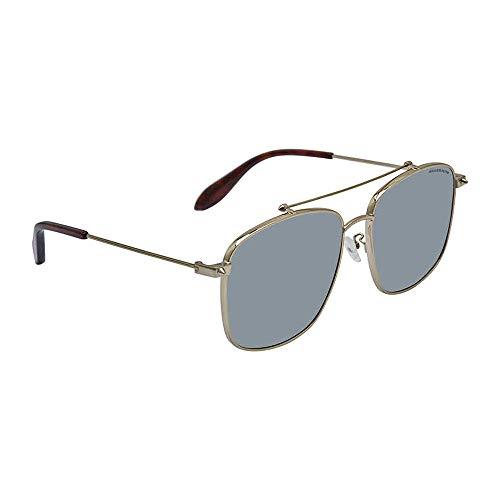 Alexander McQueen AM0124SK 002 59 Gafas de sol, Dorado (002-Gold/Bronze), Mujer