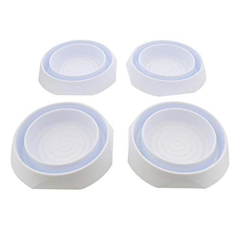 7Penn Bed Bug Interceptors Bed Bug Traps - Bed Bug Detector Bed Bug Control Bed Cups 4pk Round 6in x 1in, White