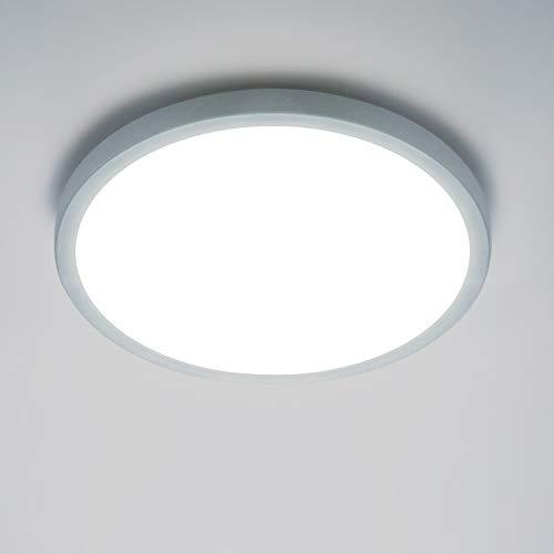 Yafido LED Deckenlampe Ultra Slim 18W 1620Lm UFO LED Panel 6500K Kaltweiß LED Deckenleuchte für Wohnzimmer Schlafzimmer Flur Büro Küche Küche Balkon und Esszimmer Nicht-dimmbar Ø18 cm