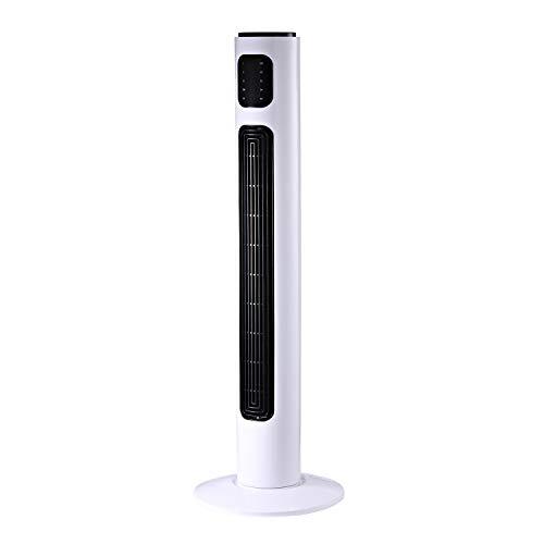 HOMCOM Ventilador de Torre con Control Remoto Tower Fan Columna Ventilador de Pie Oscilante 3 Modos Temporizador Potencia 45W 3 Velocidad Silencioso Asa de Transporte Hogar Oficina φ32x96cm