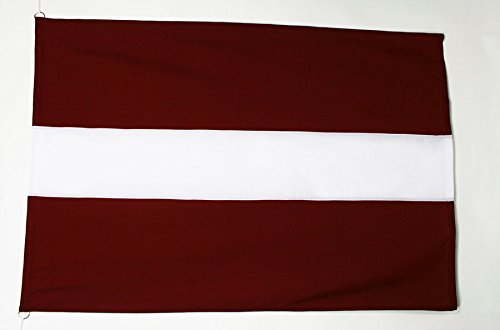 AZ FLAG Flagge LETTLAND 150x100cm Tergal - LETTISCHE Fahne 100 x 150 cm Aussenverwendung - flaggen Top Qualität