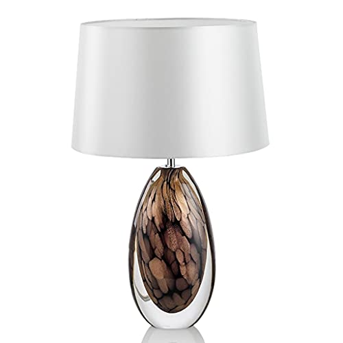 OUMYLFCNEC Table Lamps Nordic Table Lamp Glass Modern Bedside Lamp Bedroom Living Room Simple Decorative Lamp Coffee Table Study Table Bedside Counter Lamp Dimmable Bedside Desk Lamp