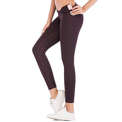 TBATM Leggins Sportivi da Donna, Vita Alta Tinta Unita Senza Cucitura Pantaloni Elastici di Fitness per Palestra Correre Allenamento Yoga Collant di Base Dimagrante,J,S