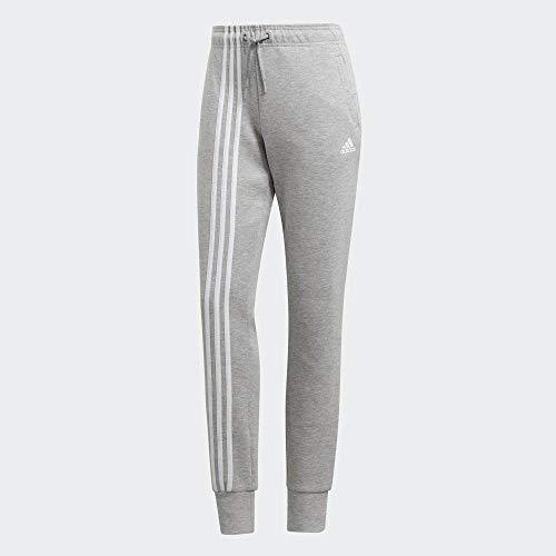 adidas Damen W MH 3S DK Pant Sport Trousers, medium Grey Heather/White, XS