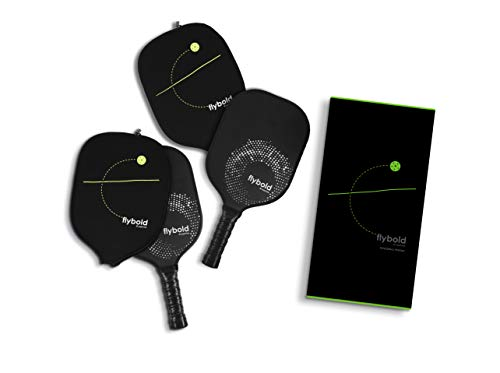 flybold Pickleball Paddle Graphite Face Honeycomb Composite Core Lightweight Pickleball Racket Neoprene Case Perfect Cushioned Grip 4.25In Ideal for Beginners Professional Men Women Kid Outdoor