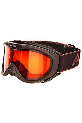 ALPINA Erwachsenen Skibrille FREESPIRIT DH OneSize (Black-Multi)