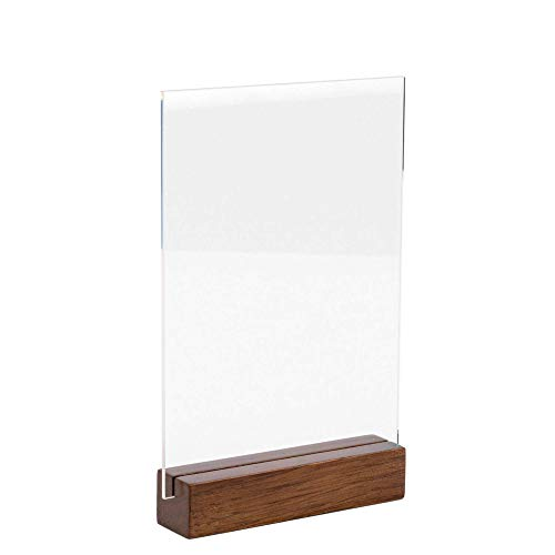 TUR Party Supplies (15 Set) 5x7 Inch Clear Blank Acrylic Sheets | Wedding Signs and Decoration | Card and Gift Signs | Event Party Signs | Welcome Acrylic Signs- Holders NOT Included