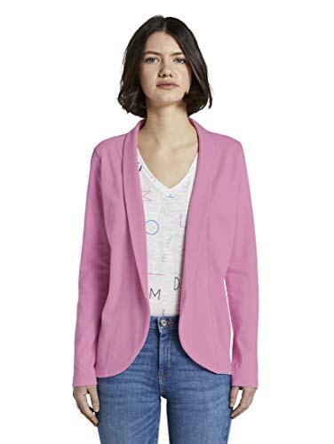 TOM TAILOR Denim Damen Sweat Blazer, 22340-bright pink, XL