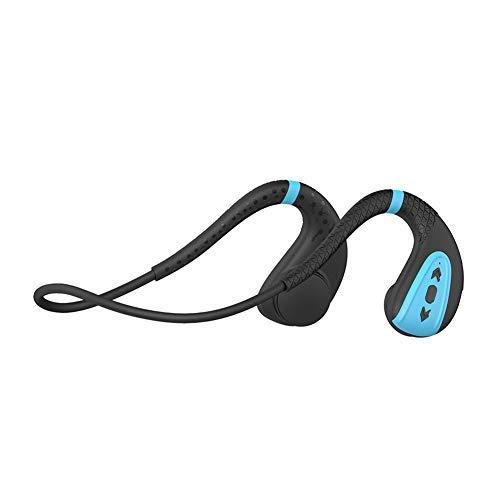 CYYMY Auriculares Bluetooth,Nivel Ipx8 Profesional a Prueba de Agua,Diseño Open-Ear,Auriculares InaláMbricos para ConduccióN ósea con Bluetooth,Bluetooth 5.0, Prueba de Sudor, con MicróFono,1