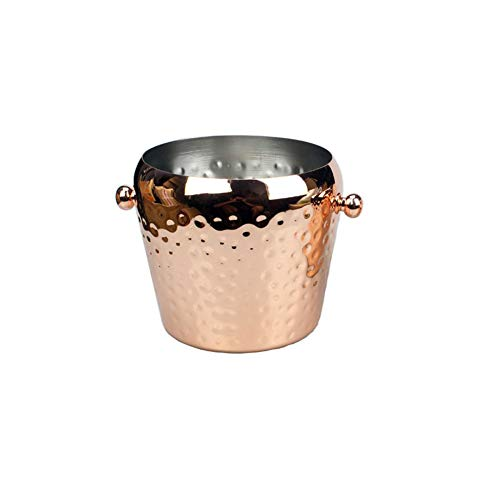 Absir Stainless Steel Hammered Ice Punch Bucket Wine Beer Cooler Champagne Cooler for KVT Bar Party 1L