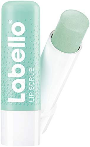 Labello Lip Scrub Aloe Vera (5,5 ml), innovative Lippenpflege mit Scrub-Partikeln natürlichen Ursprungs, sanftes Lippenpeeling mit Vitamin E