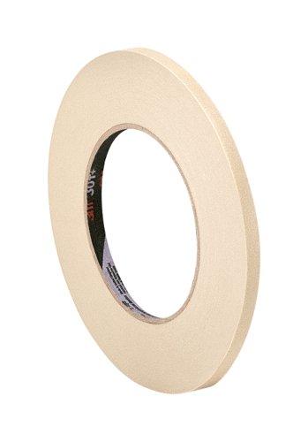 Tapecase 501+ 0,8cm x 54,9m 501+ 0,8cm x 54,9m ad alta temperatura nastro adesivo convertito da 3m 501+, 0,8cm x 54,9m, rotolo di carta crespa, marroncino