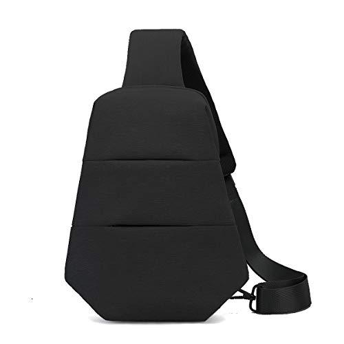 Sling Bag Backpack Chest Shoulder Pack Daypacks Outdoor Crossbody Backpacks Gym Bag for Men and Women (Black)