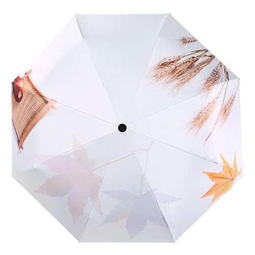 LYRRHT Paraguas De ImpresióN De Hojas De Paraguas Paraguas De ProteccióN Solar Y ProteccióN UV 1 Paraguas