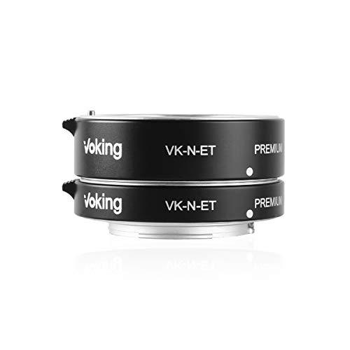 Voking VK-N-ET 10 mm + 16 mm Autofokus Makro Verlängerungsrohr Adapter Ring Premium Kit für Nikon Mirrorless 1 Mount Kameras J1 J2 J3 V1 V2 V3