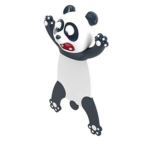 Wacky Pals Bookmarks Cute Book Marks Funny Gifts for Kids Students Novelty 3D Squashed Animals (Panda)