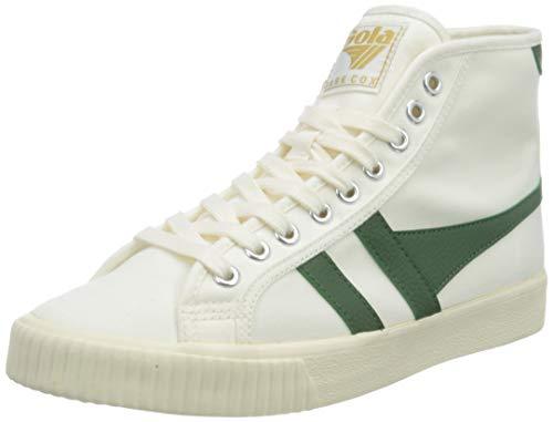 Gola Damen Tennis Mark Cox High Sneaker, Off White/Dark Green, 38 EU