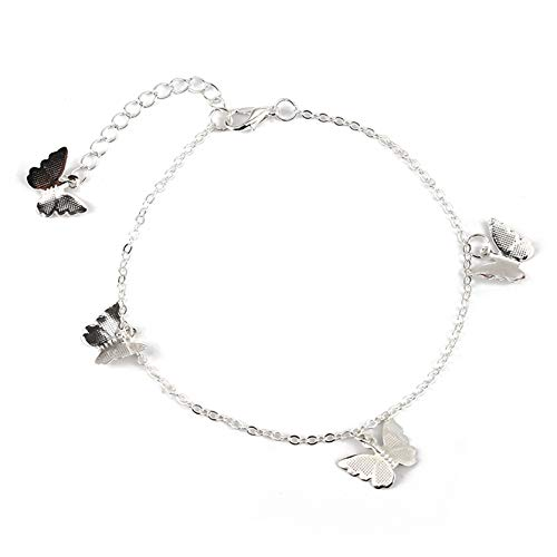 ZSDN Dainty Butterfly Anklet Bracelet Dainty Foot Chain Summer Beach Sandal Barefoot Anklet Bracelet for Women Girls, Style 4