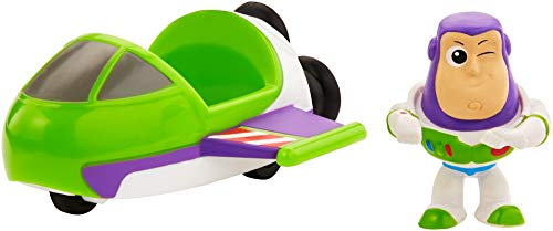 Mattel Disney Toy Story 4 Minifigura Buzz con Nave Espacial, Juguetes Niños +3 Años (GCY63)
