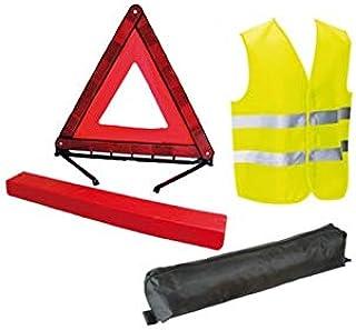 Inconnu Kit de chaleco amarillo y triángulo de señalización – Norma CE
