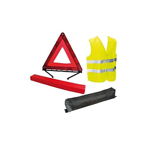 HTC Equipements Kit gilet giallo e triangolo di segnalazione – Norma CE