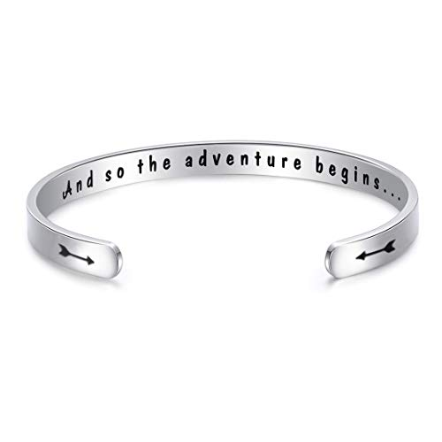 Class of 2019 Gift And So the Adventure Begin Bracelet