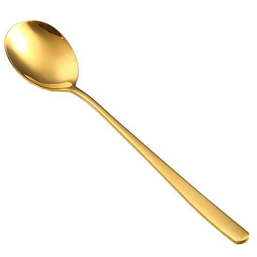 cucharas canapes Cuchara Servir Cucharas de Acero Regalos de té Tenedor Cuchara Los Amantes del café Regalo Cuchara de Nutella Café Cuchara de Postre Gold,4pcs