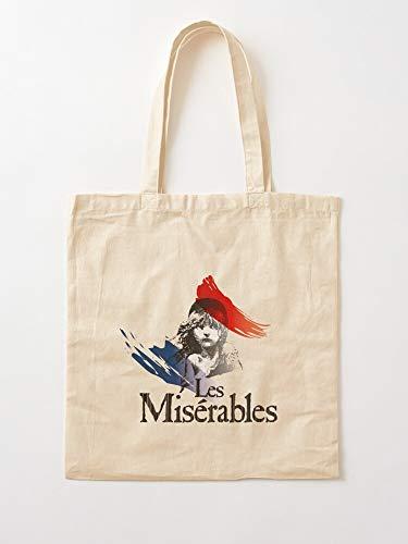 Miserables My Logo Hugo Them Victor Movie Les Play Musical Tote Cotton Very Bag | Bolsas de supermercado de lona Bolsas de mano con asas Bolsas de algodón duraderas