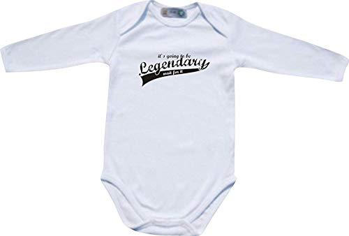 Shirtinstyle Manches Longues Body Bébé It ´ S Going pour Be Legendary Wait pour It - Blanc, 74/80