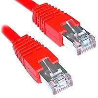 Telegärtner Cable de Empalme (categoría 7, F-STP LSZH 1 m) Color Rojo