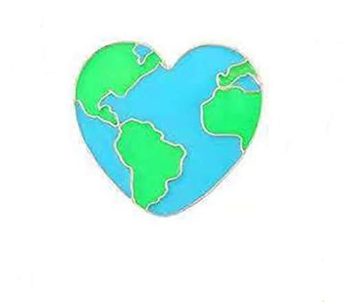 Liebe den Planeten Emaille Anstecknadel Pin Brosche Love The Planet No Planet B Vegan Klimaveränderung Anstecknadel Erdnadel Umweltfreundlicher Schmuck und Zubehö