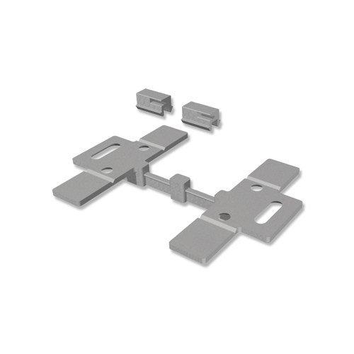 INTERDECO Deckenträger mit Deckenclips Silber-Grau für Gardinenschiene Slimline (2 Stück)