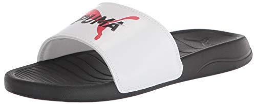 PUMA Popcat 20, Zapatos de Playa y Piscina Unisex Adulto, Black White High Risk Red, 43/45 EU