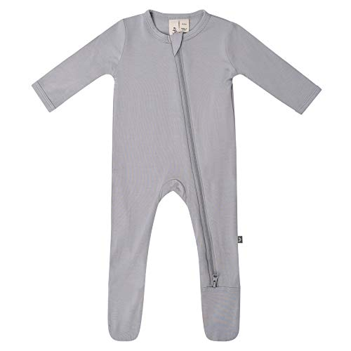 KYTE BABY Soft Bamboo Rayon Footies, Zipper Closure, 0-24 Months (18-24 Months, Storm)