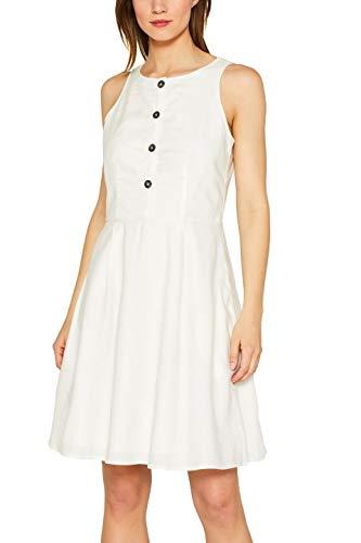 edc by Esprit 049CC1E013 Vestido, Blanco (Off White 110), 42 para Mujer