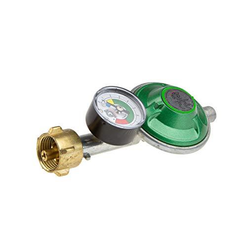 Toploo IGT Gasdruckregler 30 mbar mit manueller Schlauchbruchsicherung und Manometer