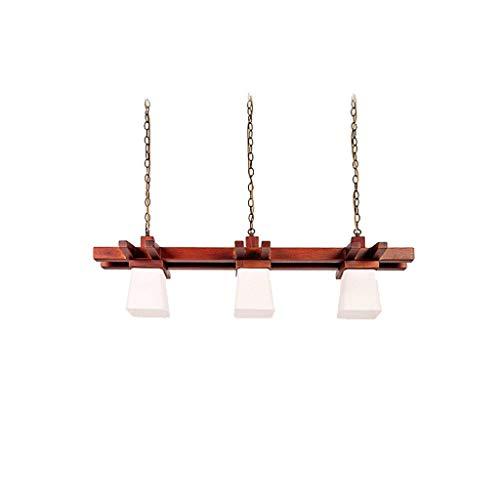Decoratieve kroonluchter kroonluchter hoofdmaaltijd lichten eettafel lamp Chinese hout creatieve Amerikaanse stijl landelijke Zuidoost-Azië stijl decoratie eetkamer kuikkkkoek Drei