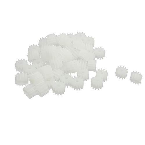 X-DREE 50 Stücke 7mm x 2mm 12 Zähne Kunststoff Zahnrad für Spielzeugauto Motor Getriebespindel (cbd4c6638f635264a7007af86290fc2b)