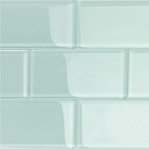 Contempo Seafoam 3 in. x 6 in. Polished Glass Subway Wall Tile (32 Pieces, 4 Sq. Ft. / Case)
