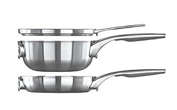 Calphalon Premier Space-Saving Stainless Steel Cookware Set