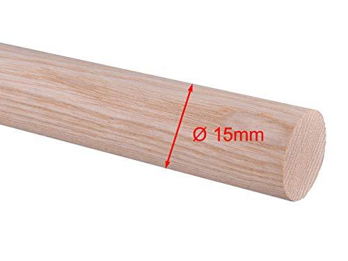 Rundstab Rundholz Esche Treppensprosse Durchmesser 20mm, 25mm, 30mm (Ø 15mm)