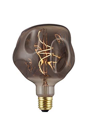 Hellum 523508 Eric - Bombilla LED (filamento suave, 12,5 x 17,5 cm, 4 W, luz blanca cálida, casquillo E27), color gris