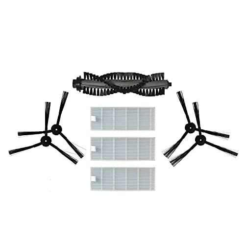 ZACO original Zubehör-Set passend für ZACO A4s Saugroboter, inkl. Bürsten und Filter