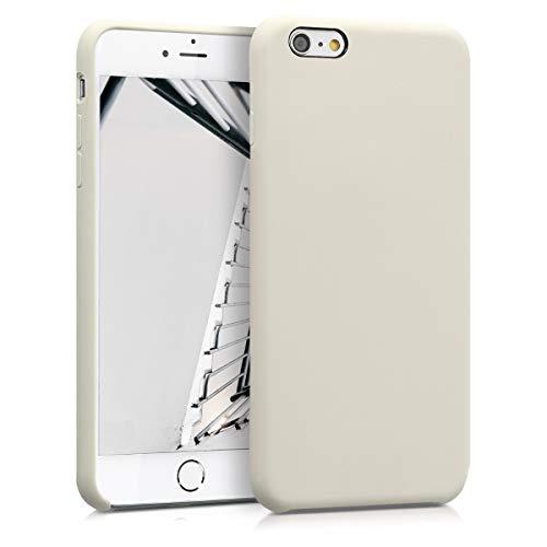 kwmobile Hülle für Apple iPhone 6 Plus / 6S Plus - Handyhülle gummiert - Handy Hülle in Creme