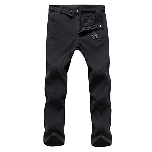 GELing Pantalones de Trekking Softshell Pantalones Impermeables Resistente Pantalones de Escalada Hombre...