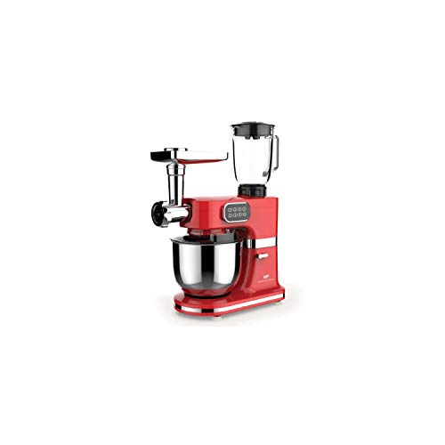 CONTINENTAL EDISON Robot pâtissier multifonctions - 1000 W - Rouge